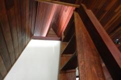 Escada para o pavimento superior